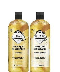 Ghair Mais Que Necessário Shampoo e Condicionador de Tratamento 1L