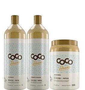 Zap Coco Boom Shampoo e Condicionador 1 Litro + Máscara 950g