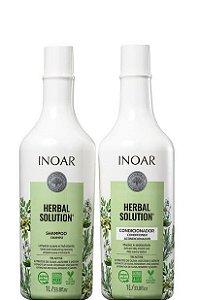 Inoar Herbal Solution Kit Shampoo e Condicionador 2x1litro