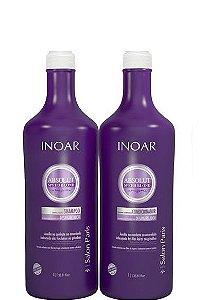 Inoar Absolut Speed Blond Duo Kit Shampoo e Condicionador 2x1litro