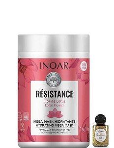 Inoar Résistance Flor de Lotus Mega Máscara Hidratante 1kg + Óleo