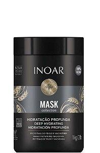 Inoar Mask Collection Hidratação Profunda Proteína Trigo e Macadâmia 1kg