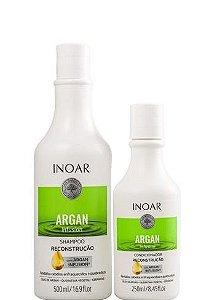Inoar Argan Infusion Reconstrução Shampoo 500ml Condicionador 250ml
