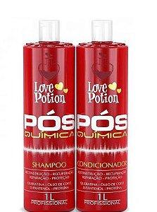 Love Potion Shampoo Sem Sal e Condicionador Pós Química 2x1Litro