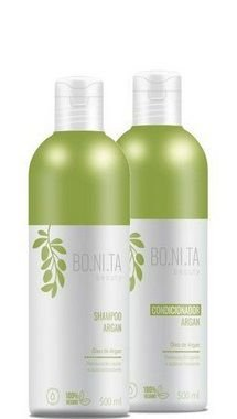 Bonita Beauty Shampoo e Condicionador Argan Vegano 2x500ml