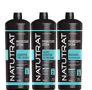 Skafe Natutrat Kit Escova Progressive System Sem Formol Kit 1,5 L