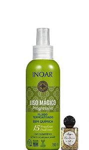 Inoar Liso Magico Progressivo Fluido Protetor Termoativado 200ml + Óleo
