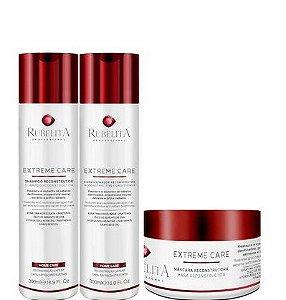 Rubelita Extreme Care Reconstrução Capilar Shampoo e Condi 300ml + Mascara 250g