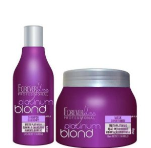Forever Liss Platinum Blond Kit Shampoo 300ml + Máscara 250g