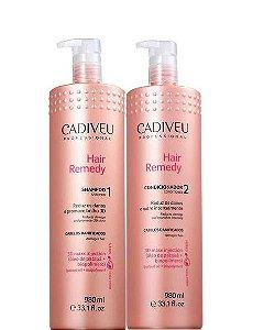 Cadiveu Hair Remedy Kit Shampoo e Condicionador Cabelos Danificados 2x980ml