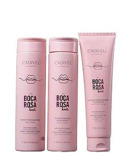 Cadiveu Boca Rosa Hair Limpeza & Cuidados Diários (3 Produtos)