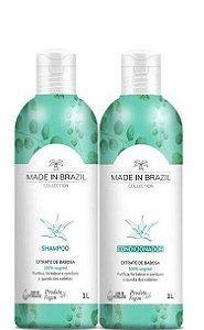 Made In Brazil Kit Shampoo e Condicionador de Extrato de Babosa 2x1Litro