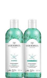 Made In Brazil Kit Shampoo e Condicionador de Extrato de Babosa 2x500ml