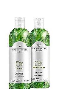 Made In Brazil Kit Shampoo e Condicionador Óleo de Coco Nutrição 2x500ml