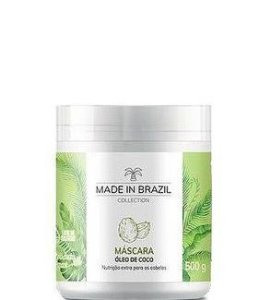 Made in brazil Máscara Óleo de Coco Nutrição Capilar Extra 500g