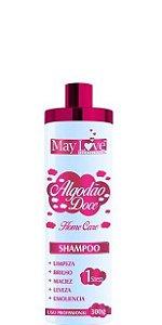 May Love Algodão Doce Shampoo Uso Diário Home Care 300ml OUTLET