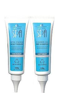 Grandha Urbano Spa Blue Pré-Shampoo e  Vital Energy 2x120g