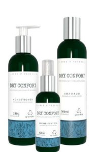 Grandha Dry Confort Kit Shampoo - Conditioner e Liquid Control Cabelos Mistos