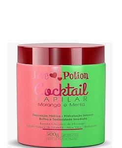 Love Potion Cronograma Cocktail Capilar Morango e Menta Hidratação 500g