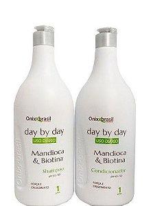 Onixx Brasil Day By Day Shampoo e Condicionador Mandioca e Biotina 2x1L
