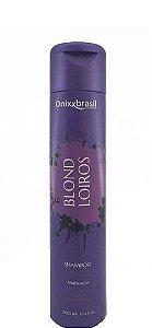 Onixx Brasil Blond Loiros Shampoo Matizador Desamarelador 300ml
