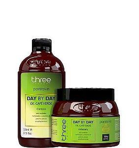 Three Therapy Sham e Máscara Day By Day Café Verde Pantovin 2x500ml