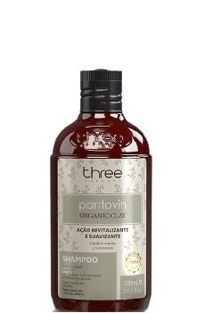 Three Therapy Shampoo Pantovin Organic Clay 500ml