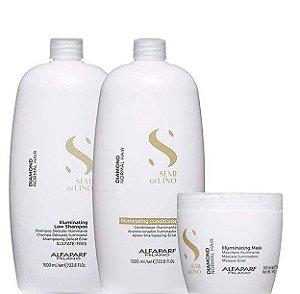 Alfaparf Semi Di Lino Diamond Shampoo Condicionador e Máscara 495g