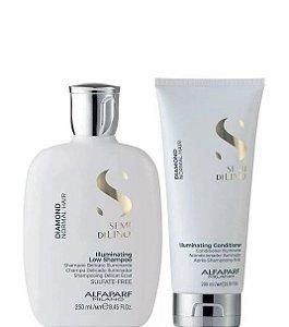 Alfaparf Semi Di Lino Diamond Kit Shampoo 250ml e Condicionador 200ml