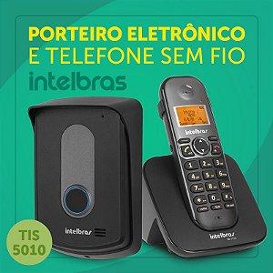 Interfone Sem Fio TIS 5010 Intelbras Porteiro Eletrônico