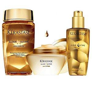 Kérastase  Ultimate Bain  Elixir Máscara  Kit contém 3 produtos