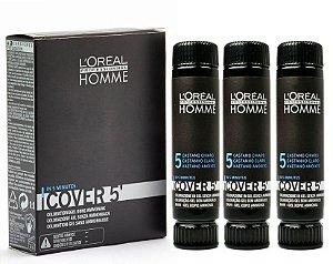 L'Oréal Professionnel Homme Cover 5 Castanho Claro 5 - Coloração 3x50ml