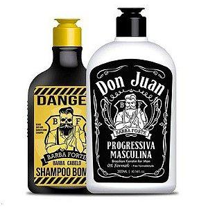 Combo Shampoo Bomba Danger e Progressiva Don Juan (2 Produtos)