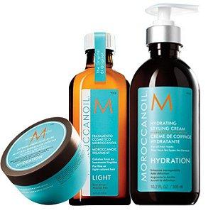 Moroccanoil  Hydrating - Kit contém 3 produtos