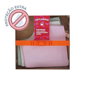 Trio Bandana Colorê Rosa Proteção Extra