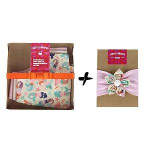 Conjunto Sereia Flor – 3 bandanas + acessório