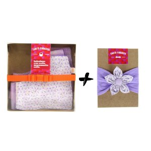 Conjunto Violette de Toulouse – 3 bandanas + acessório