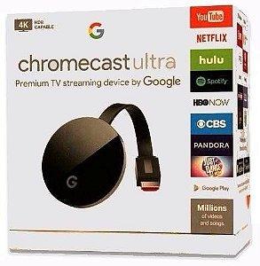 Google Chromecast Ultra 4K HDMI Preto (Por encomenda)