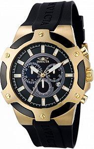 Relógio Invicta Signature 7343 Banho Ouro Cronógrafo