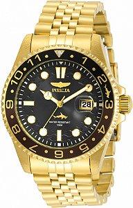 Relógio Invicta Pro Diver 30622 Banho Ouro 43mm Mostrador Preto