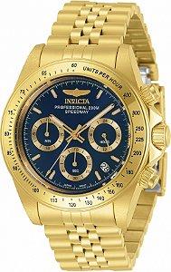 Relógio Invicta Speedway 30999 Banho Ouro 40mm Mostrador Azul