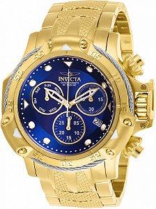 Relógio Invicta Subaqua Poseidon 26726 B. Ouro Cx 55mm Suíço