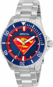Relógio Invicta DC Comics Superman 26898 Banho Prata Automátco Cx 38mm