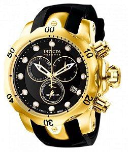63b8aef7080 Relógio Invicta Original Reserve Venom 6112 Banhado a Ouro 18kt Preto Suíço  Cronógrafo