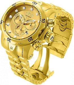 Relógio Invicta Reserve Venom 14503 52mm banhado a Ouro 18k Suíço Cronógrafo