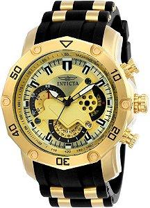 Relógio INVICTA 23427 Pro Diver 50mm Banhado a Ouro 18k cronógrafo