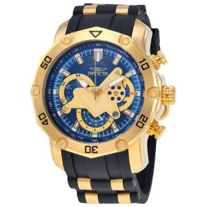 Relógio INVICTA 23426 Pro Diver 50mm Banhado a Ouro 18k cronógrafo Mostrador Azul