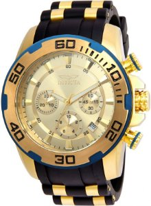 Relógio INVICTA 22345 Pro Diver 50mm Banhado a Ouro 18k cronógrafo