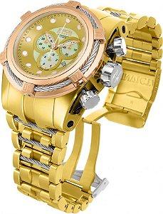 Relógio Invicta Bolt Zeus 12758 Reserve 53mm Banho Ouro Suiço
