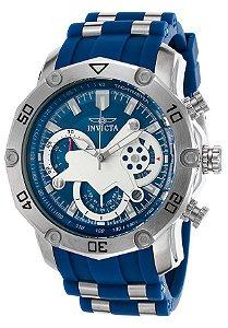 76f04f4d175 Relógio INVICTA 22796 Pro Diver 50mm Original Azul Prata Cronógrafo